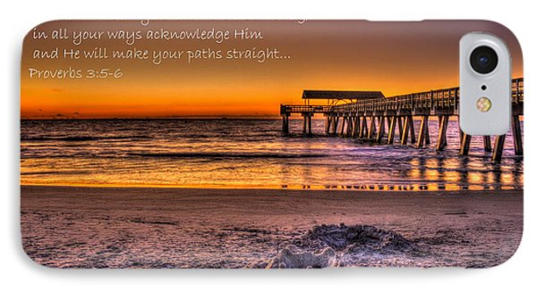 Castles In The Sand 2 Tybee Island Pier Sunrise IPhone Case by Reid Callaway