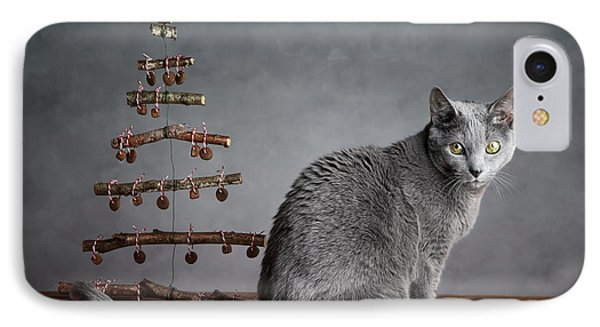 Cat Christmas IPhone Case by Nailia Schwarz
