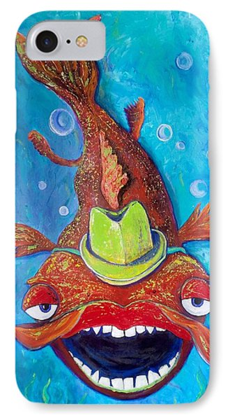 Catfish Clyde Phone Case by Vickie Scarlett-Fisher