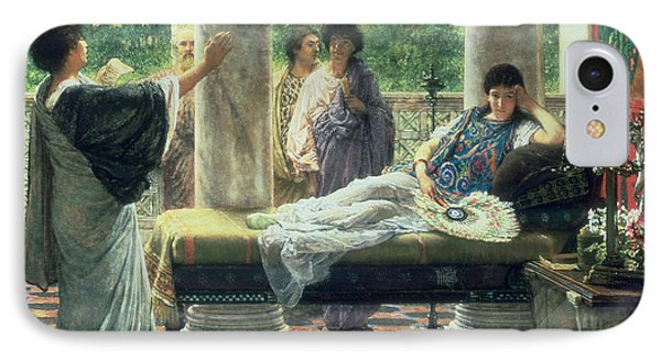 Catullus Reading His Poems IPhone Case by Sir Lawrence Alma-Tadema