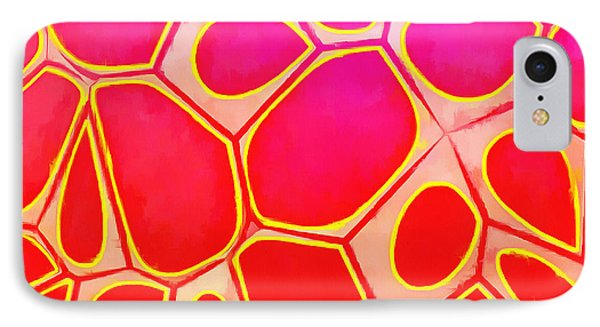 Cells Abstract Three IPhone Case by Edward Fielding