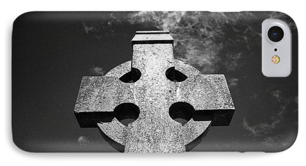 Celtic Cross In A Rural Irish Graveyard In Tydavnet County Monaghan Republic Of Ireland IPhone Case