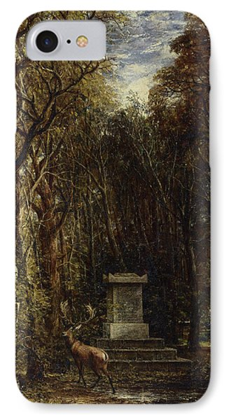 Cenotaph To The Memory Of Sir Joshua Reynolds IPhone Case by John Constable
