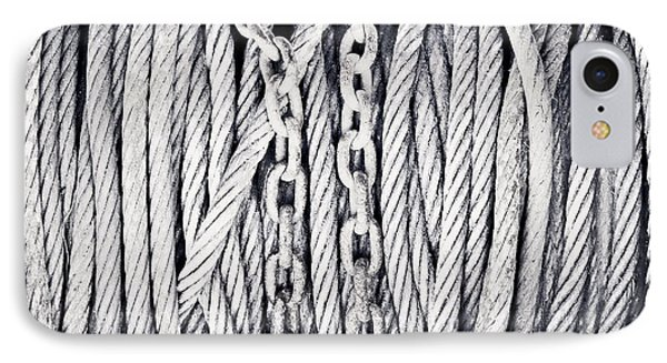 Chains And Cables IPhone Case by Tom Gowanlock