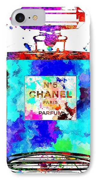 Chanel No. 5 Grunge IPhone Case by Daniel Janda