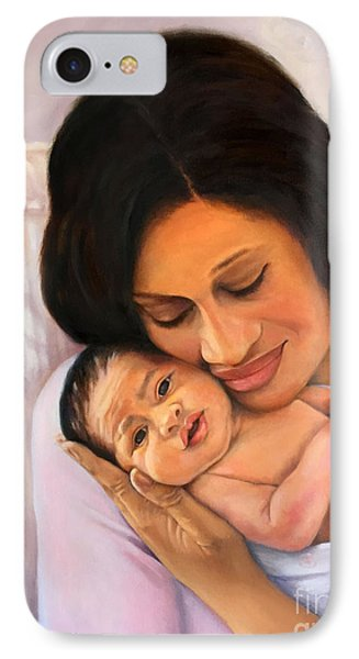 IPhone Case featuring the painting Chanelle And Kaycee Victoria by Marlene Book