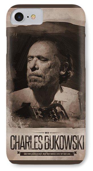 Charles Bukowski 01 IPhone Case by Afterdarkness