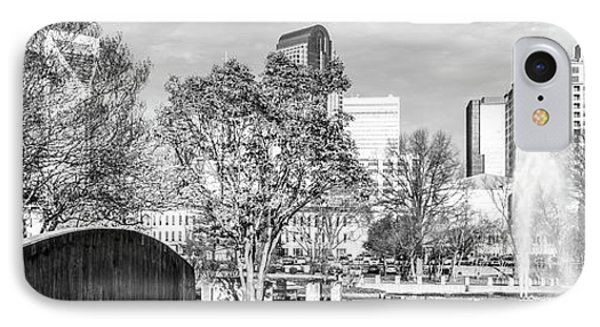 Charlotte Panorama Black And White Photo IPhone Case by Paul Velgos