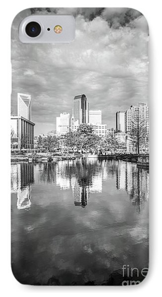 Charlotte Skyline Reflection On Marshall Park Pond IPhone Case
