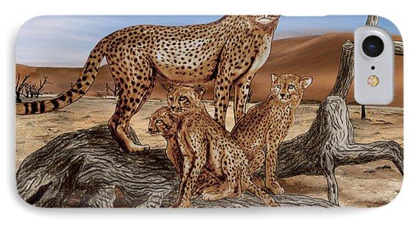 Cheetah Family Tree IPhone Case by Peter Piatt