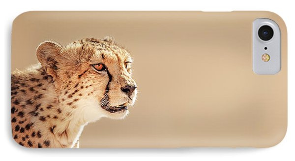Cheetah Portrait IPhone Case by Johan Swanepoel