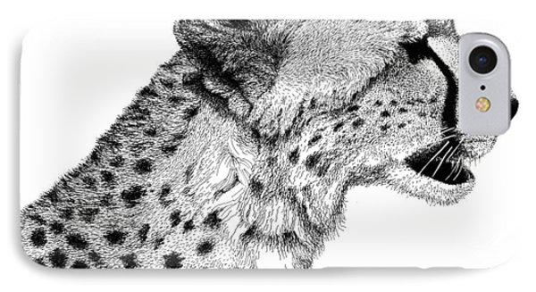 Cheetah IPhone Case by Scott Woyak