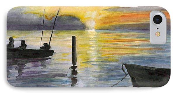 Chesapeake Sunset IPhone Case by Clara Sue Beym