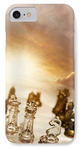 Chess Game IPhone Case by Les Cunliffe