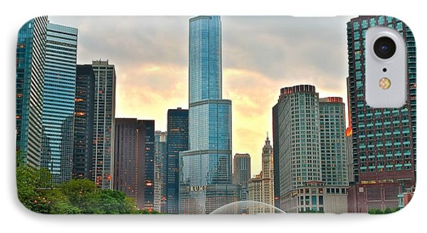Chicago At Dusk IPhone Case by Frozen in Time Fine Art Photography