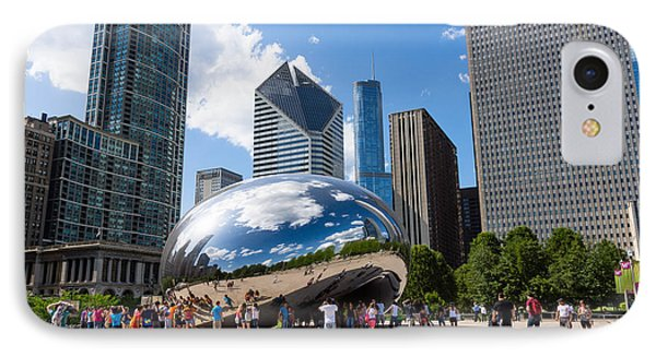 Chicago Bean Cloud Gate With People IPhone Case