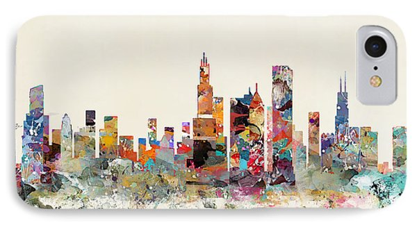 Chicago City Skyline IPhone Case by Bri B