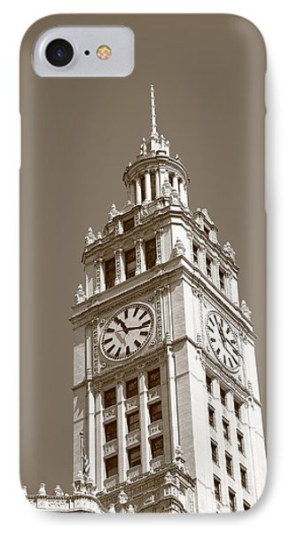 Chicago Clock Tower IPhone Case