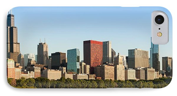 Chicago Downtown At Sunrise IPhone Case by Semmick Photo