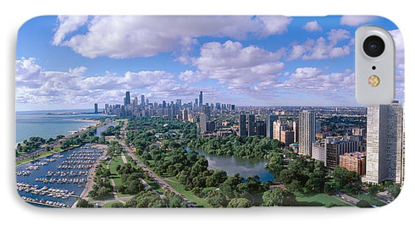 Chicago Harbor, City Skyline, Illinois IPhone Case by Panoramic Images