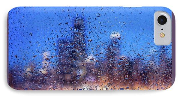 Rainy Chicago Lakefront Blues IPhone Case by Steve Gadomski