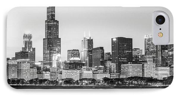 Chicago Skyline Black And White Photo IPhone Case