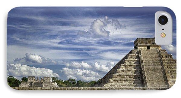 IPhone Case featuring the photograph Chichen Itza, El Castillo Pyramid by Jason Moynihan
