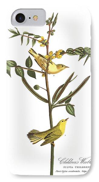 Children's Warbler IPhone 7 Case by John James Audubon