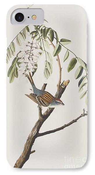 Chipping Sparrow IPhone 7 Case by John James Audubon