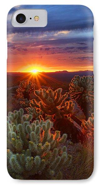 Cholla Sunset  IPhone Case