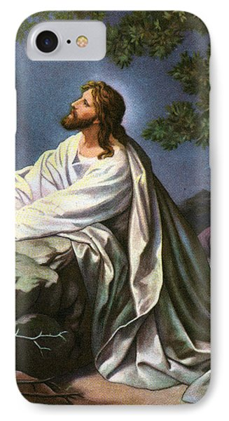 Christ In The Garden Of Gethsemane IPhone Case by Heinrich Hofmann