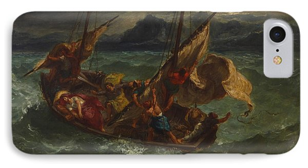 Christ On The Sea Of Galilee IPhone Case by Eugene Delacroix