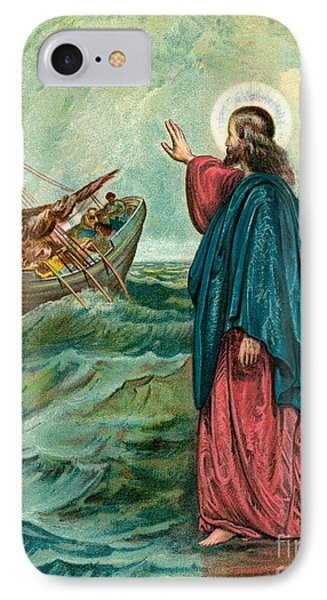 Christ Walking On The Sea IPhone Case by English School