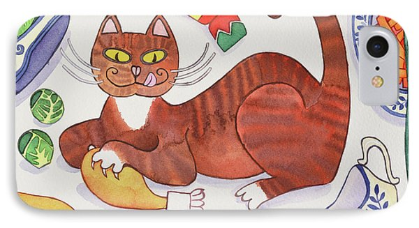 Christmas Cat And The Turkey IPhone 7 Case