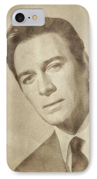 Christopher Plummer, Vintage Actor By John Springfield IPhone Case by John Springfield