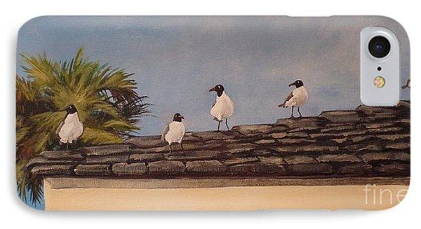 Cinco Seagulls Phone Case by Carla Dabney