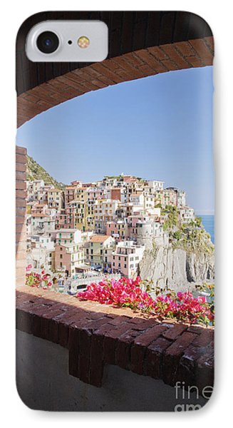 Cinque Terre Town Of Manarola Phone Case by Jeremy Woodhouse