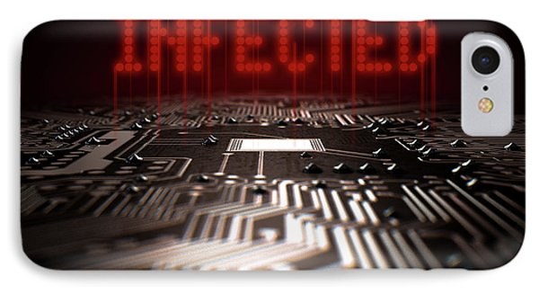 Circuit Board Infected Text IPhone Case