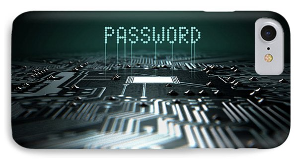 Circuit Board Projecting Password IPhone Case