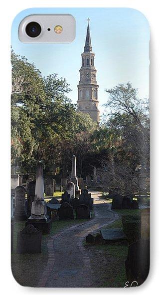 Circular Congregational Graveyard 3 IPhone Case by Gordon Mooneyhan