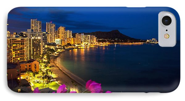 Classic Waikiki Nightime IPhone Case