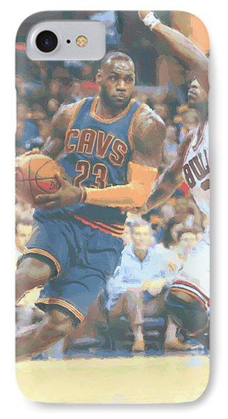 Cleveland Cavaliers Lebron James 2 IPhone 7 Case by Joe Hamilton