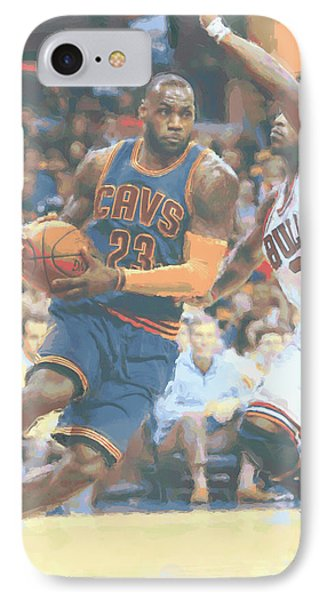 Cleveland Cavaliers Lebron James 2 IPhone Case by Joe Hamilton