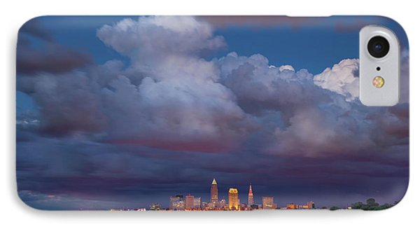 IPhone Case featuring the photograph Cleveland Skyline  by Emmanuel Panagiotakis