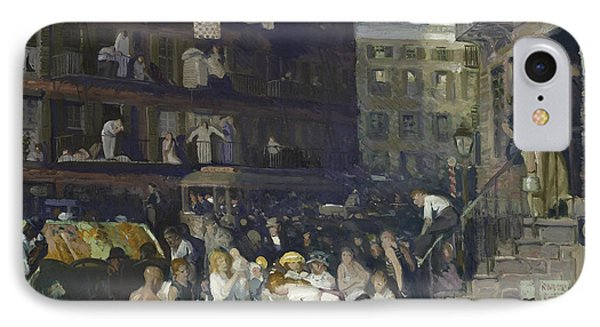 Cliff Dwellers IPhone Case by George Wesley Bellows