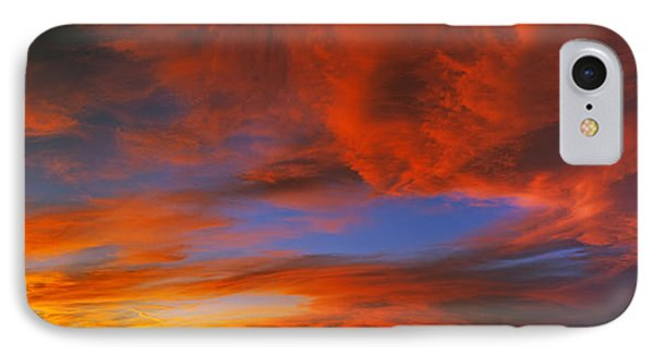 Clouds In The Sky At Sunset, Taos, Taos IPhone Case