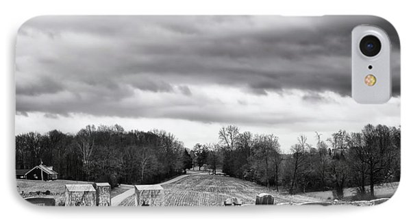 Clouds Over Cemetery IPhone Case by Michael Vines