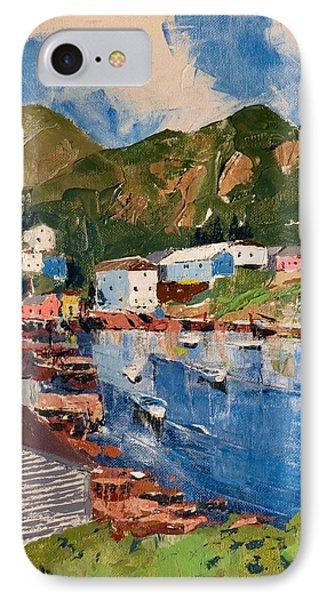 Coastal Village, Newfoundland IPhone Case by David Gilmore