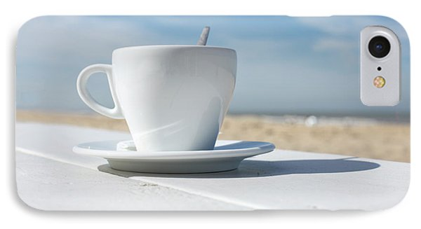 IPhone Case featuring the photograph Coffee On The Beach by Patricia Hofmeester