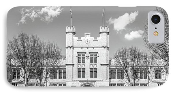 College Of Wooster Kauke Hall  IPhone Case by University Icons